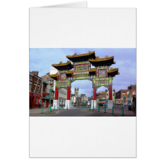 Chinese Imperial Arch, Liverpool UK Card