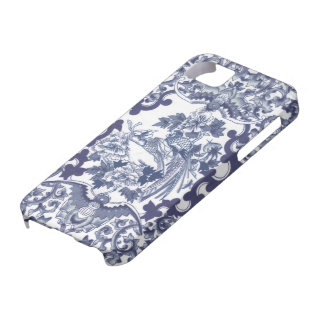 Chinese inspired blue pattern with birds toile iPhone 5 cover