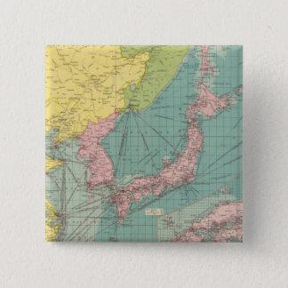 Chinese, Japanese ports 15 Cm Square Badge
