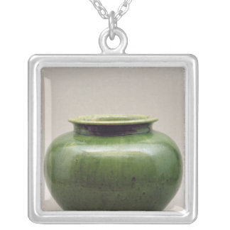 Chinese jar, Yueh ware, Six Dynasties Silver Plated Necklace