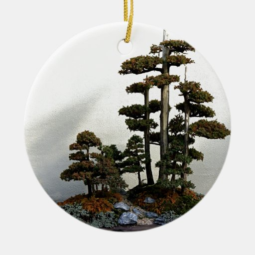 Chinese Juniper Bonsai Trees Christmas Tree Ornament