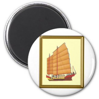 Chinese Junk 6 Cm Round Magnet