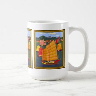 Chinese junks in Hong Kong Coffee Mug