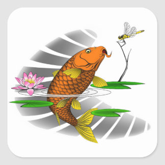 Chinese Koi Artwork Sticker