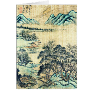 Chinese Landscape 1730 Greeting Card