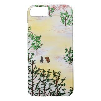 Chinese landscape and donkeys iPhone 7 case