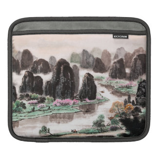 Chinese Landscape Watercolor Sleeve for iPad