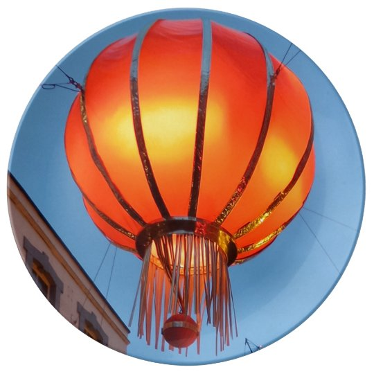 "Chinese Lantern 10.75"" Decorative Porcelain Plate"