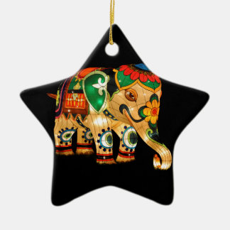 Chinese Lantern Elephant Christmas Ornament