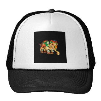 Chinese Lantern Elephant Trucker Hats