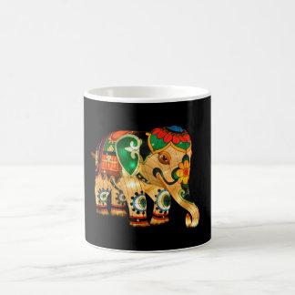 Chinese Lantern Elephant Coffee Mugs