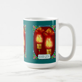 Chinese lanterns basic white mug