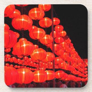 Chinese Lanterns Beverage Coaster