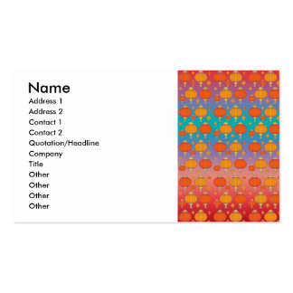 Chinese lanterns business card templates