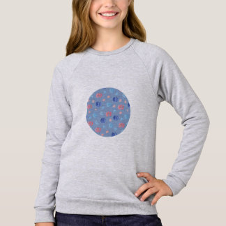 Chinese Lanterns Girls' Raglan Sweatshirt