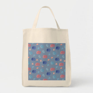 Chinese Lanterns Grocery Tote