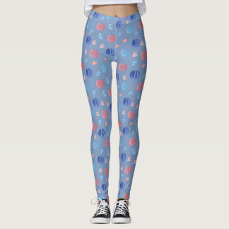 Chinese Lanterns Leggings