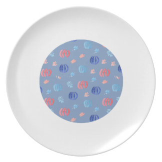 Chinese Lanterns Melamine Plate
