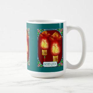 Chinese lanterns basic white mug