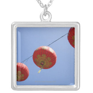 Chinese Lanterns Silver Plated Necklace