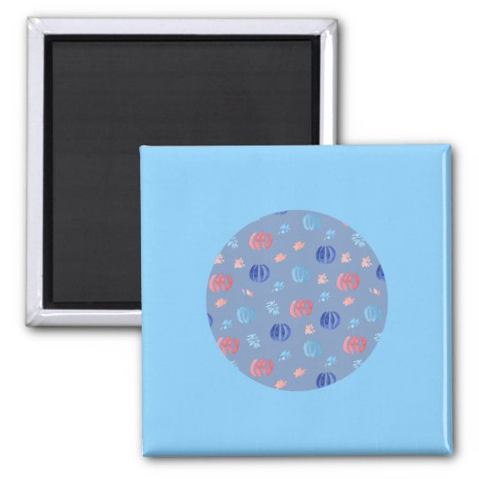 Chinese Lanterns Square Magnet
