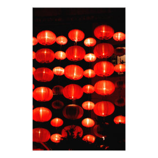 Chinese Lanterns Customized Stationery