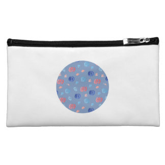 Chinese Lanterns Sueded Medium Cosmetic Bag