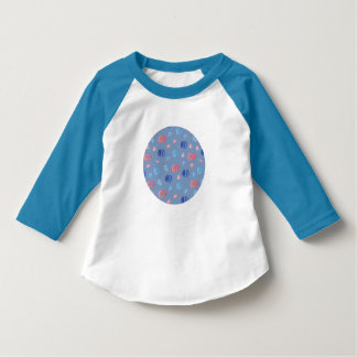 Chinese Lanterns Toddler Raglan T-Shirt