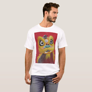 Chinese Lion Dance Gold Lion T-Shirt