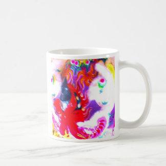 Chinese Lion Head, close-up abstract Basic White Mug