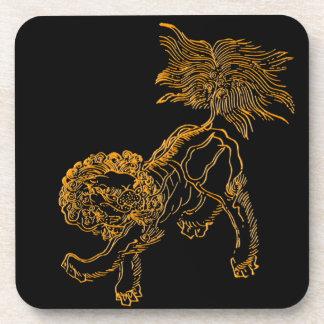 Chinese lion shishi coaster