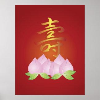 Chinese Longevity Symbol Poster