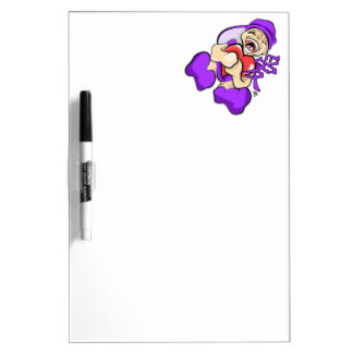 Chinese Love Anime Purple Character Holding Heart Dry Erase Boards