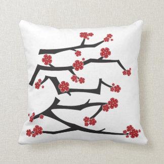 Chinese Love Heart Cherry Blossoms Sakura Wedding Cushion