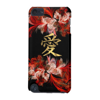 Chinese love symbol on red fractal iPod touch (5th generation) covers