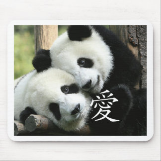 Chinese Loving Little Giant Pandas Mouse Mat