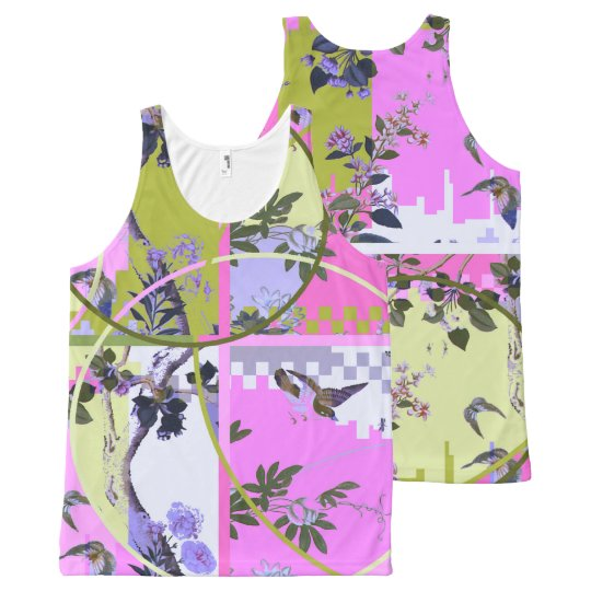 Chinese Mashup I – All-Over Printed Unisex Vest