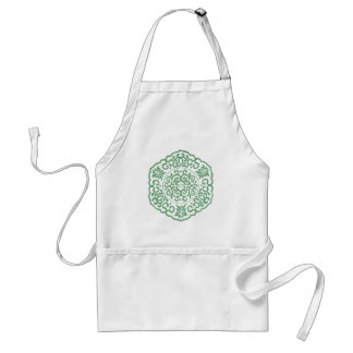 Chinese Medallion green Apron