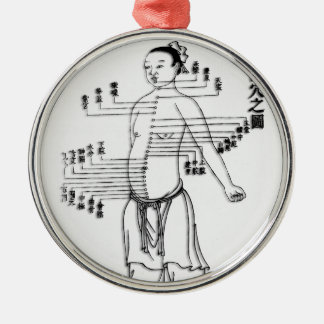 Chinese Medicine chart Christmas Ornament