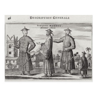 Chinese Men, a General Description from an account Postcard