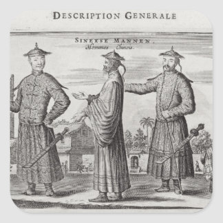 Chinese Men, a General Description from an account Square Sticker
