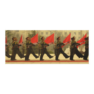 Chinese Military Honor Guard in Column Gallery Wrapped Canvas