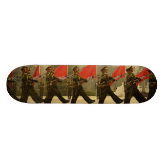 Chinese Military Honor Guard in Column Skate Board