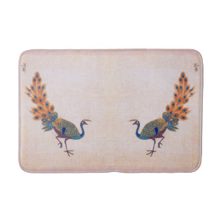 Chinese Ming Peacock Birds Animals Bath Mat