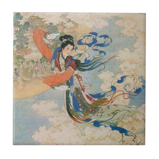 Chinese Moon Goddess ceramic tile