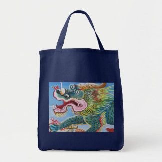 Chinese Mural Grocery Tote Bag