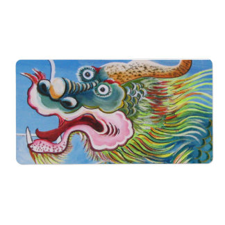 Chinese Mural Shipping Label