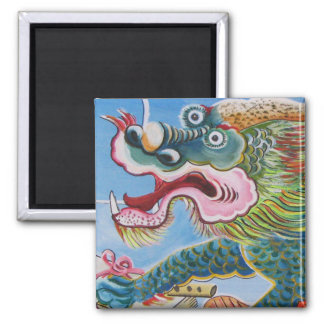 Chinese Mural Square Magnet