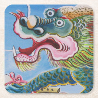 Chinese Mural Square Paper Coaster