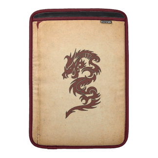 Chinese Mythology Dragon, Old Paper - Red Orange Sleeve For MacBook Air